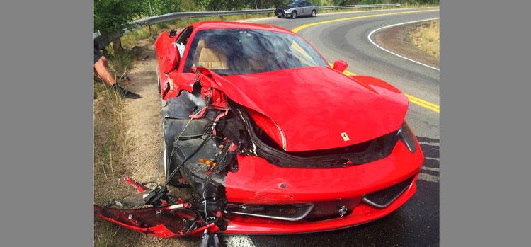 [วิดีโอ] เมื่อวัยรุ่นเมกันเช่ารถ Ferrari 458 แล้วขับซิ่งบนภูเขาจนเกิดอุบัติเหตุ
