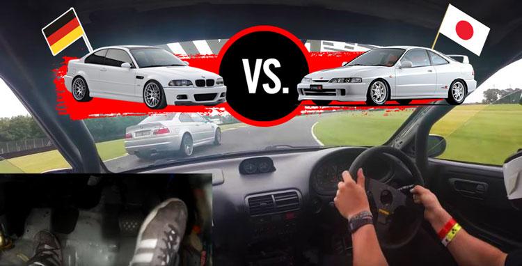 [วิดีโอ] HONDA INTEGRA (DC2) วิ่งไล่กวด BMW M3 (E46) อย่างเอาเป็นเอาตาย